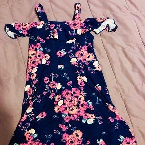 Girls cotton floral dress